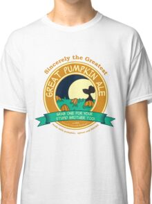 It's the Great Pumpkin Ale Charlie Brown Classic T-Shirt