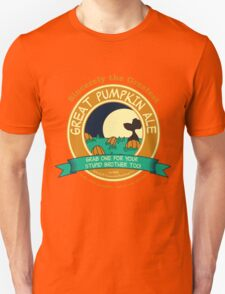 It's the Great Pumpkin Ale Charlie Brown Unisex T-Shirt