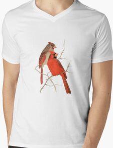 Vintage Cardinals Mens V-Neck T-Shirt