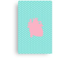 Pastel Heart Canvas Print