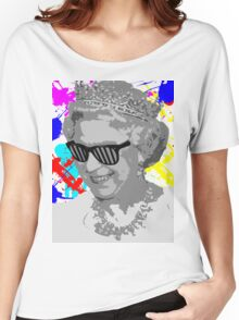 Queen Stencil  Women's Relaxed Fit T-Shirt