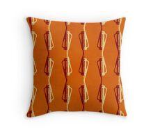 Shadowplay (Orange) Throw Pillow