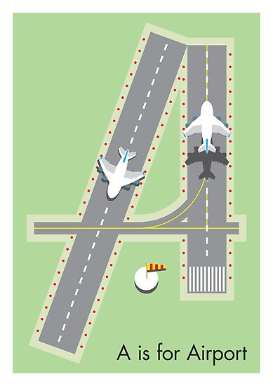 Typography: A is for Airport by Jason Jeffery