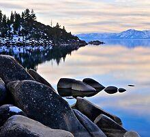 Lake Tahoe at dusk by Jeffrey  Sinnock