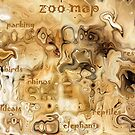 Map of the Zoo  (VIEW LARGE) by deborah zaragoza