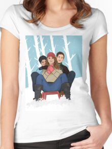 Sledding Women's Fitted Scoop T-Shirt