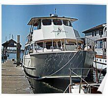 Amazing Grace, at the pier at Newport Harbor, Newport RI Poster