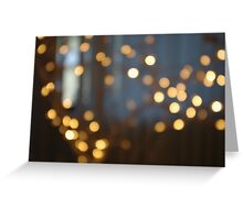 Out of Focus Lights Greeting Card