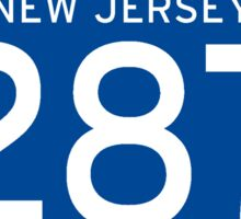 Interstate Sign 287 New Jersey, USA Sticker