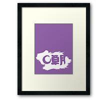 Sogetsu Ikebana (unofficial) reverse version Framed Print