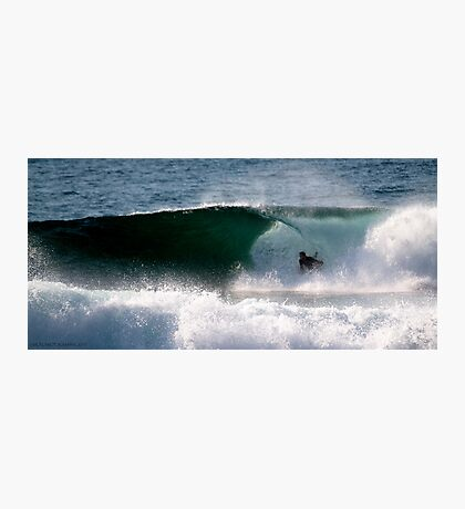 Body Boarder gets slotted, LA Sydney's NTH BEACHES Photographic Print
