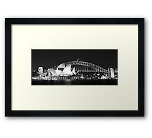 Sydney Harbour and Opera House Framed Print