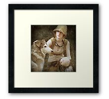 to live among wolves is to act like a wolf yourself Framed Print