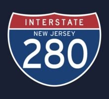 Interstate Sign 280 New Jersey, USA One Piece - Short Sleeve
