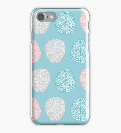 Brainy Pastel Pattern (Awesome Pastel Brains) iPhone Case/Skin