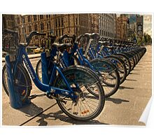 Melbourne bicycles await Poster