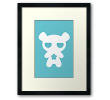 Lazy Bear Baby Blue Framed Print