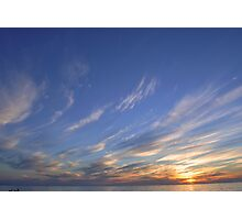 Parkdale Beach Sunset Photographic Print