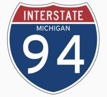 Interstate Sign 94 Michigan, USA Kids Tee
