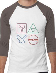 SONY x NINTENDO Men's Baseball ¾ T-Shirt