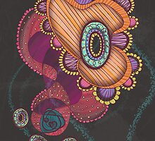Jellyfish, Night Greeting Card by Janet Antepara
