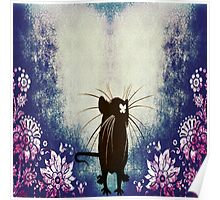 Silhouette Ratty Poster