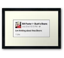 thos Beans Framed Print