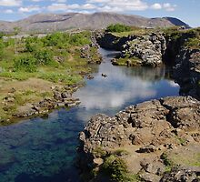 Iceland - Thingvellir stream by Derek  Rogers