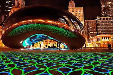 Luminous Field by Luftwerk (I), Lake Michigan by James Watkins