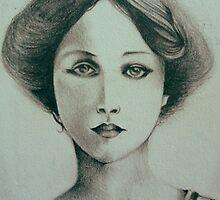 Portrait of  my Great Grandmother circa 1907 by John Dicandia  ( JinnDoW )