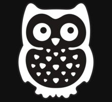 Black & White Owl Kids Tee