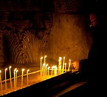 Priest at the Church of the Holy Sepulchre, Jerusalem by Tony Roddam
