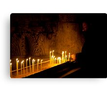 Priest at the Church of the Holy Sepulchre, Jerusalem Canvas Print