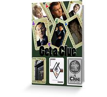 Get A Clue Greeting Card