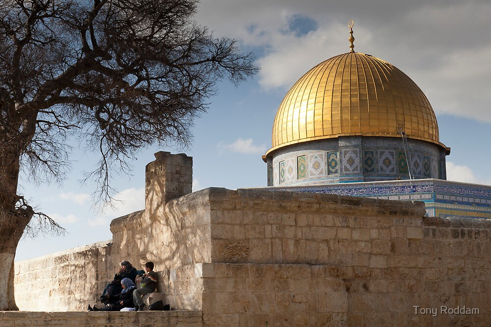 Picnic at the Dome of the Rock by Tony Roddam