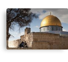 Picnic at the Dome of the Rock Canvas Print