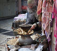 Spices and minerals, Jerusalem by Tony Roddam