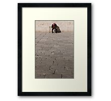 Taking a nap at the Dome of the Rock Framed Print