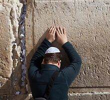 Devotion at the Wailing Wall, Jerusalem by Tony Roddam
