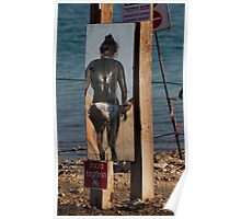 Black mud treatment at the Dead Sea Poster