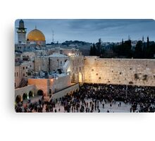 Sabbath at the Wailing Wall, Jerusalem Canvas Print