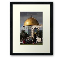 Young women at the Dome of the Rock Framed Print