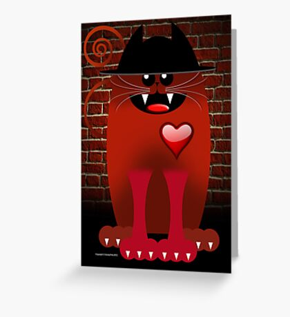 BIG RED Greeting Card