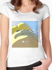 Press A to let go Women's Fitted Scoop T-Shirt