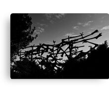Yad Vashem Holocaust memorial Canvas Print