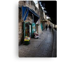 Shop near the Armenian quarter, Jerusalem Canvas Print