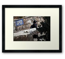 Chamber of the Holocaust museum, Jerusalem Framed Print