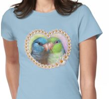 Pacific parrotlet parrot realistic painting Womens Fitted T-Shirt