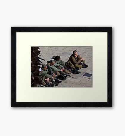 Israeli soldiers Framed Print