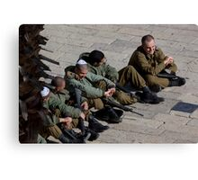 Israeli soldiers Canvas Print